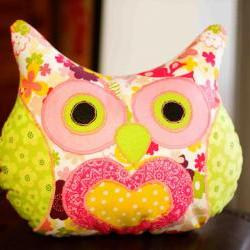 Lola Flower Power Owl Pillow