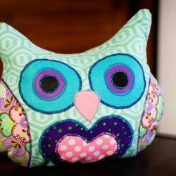 Lola Purply Owl Pillow